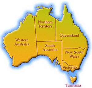 Australia Map - Basic
